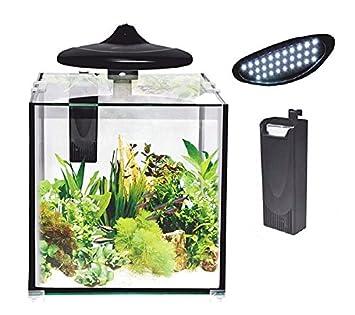 Resun Nano Acuario 30 litros Cube/Cubo: Amazon.es: Productos para mascotas