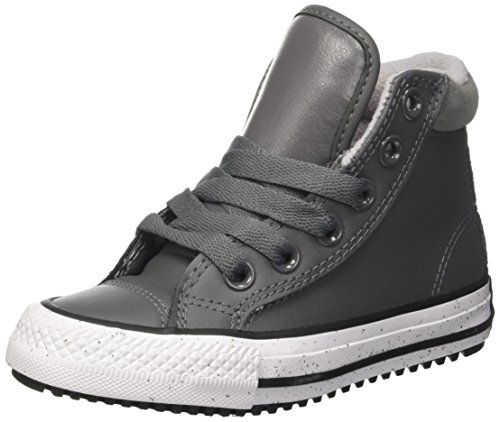 Mixte Black Leather Baskets Thunder Grigio Hi White Converse CTAS Enfant Pc Hautes qxWvw