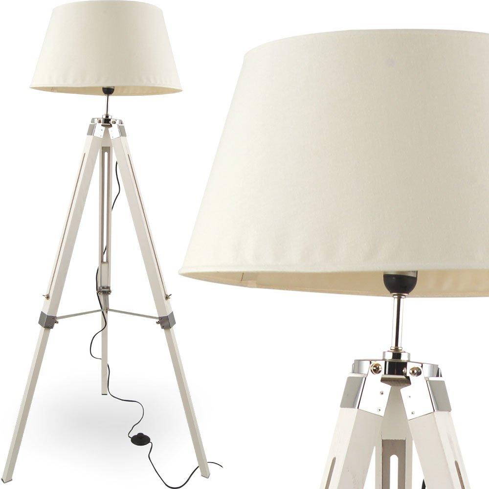 MOJO® Stehleuchte Tripod Höhenverstellbar Design Lampe Weiss mq ...