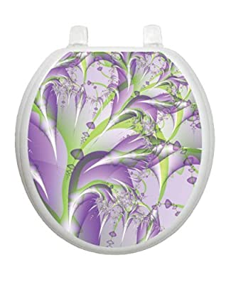 Lavender Fields Toilet Tattoo TT-1086-R Round Colorful Summer Theme Cover Bathroom