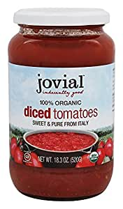 JOVIAL Organic Diced Tomatoes, 12.06 Pound