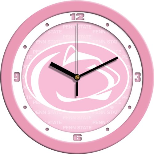 (SunTime NCAA Penn State Nittany Lions Wall Clock - Pink)
