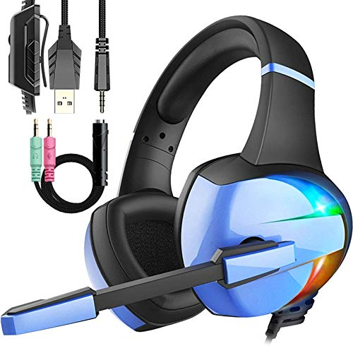Wired pro Gaming Headset with Mic for Kid's Boy's Teen's Gifts, Over-Ear Gaming Headphones with Crystal Stereo Bass…
