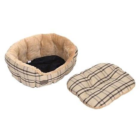 Zooplus Snuggle Cama para Gatos Perros Ovalado Reversible cojín