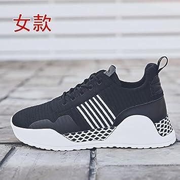 GUNAINDMX Zapatillas de correr, con muelle, para todo tipo de deportes, negro, Forty: Amazon.es: Deportes y aire libre