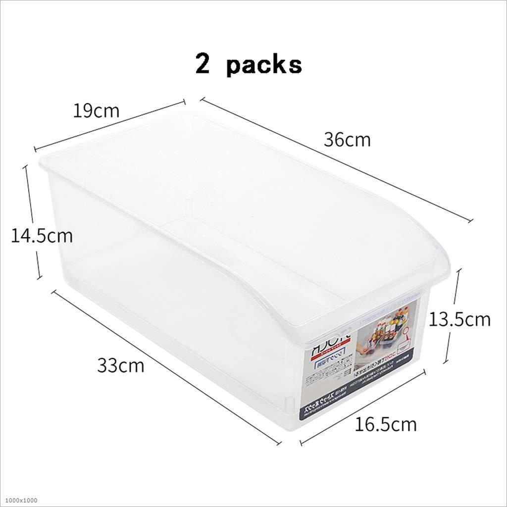 Caja de Almacenamiento Caja de Almacenamiento del plástica de la Comida del Almacenamiento refrigerador de la Cocina 26.5  12.5  7.5cm (Color : 2) 9bb6b9