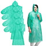 Best Travel Ponchos - Rain Ponchos-Disposable Poncho Waterproof Raincoat, 4Pack for Adults&Child Review