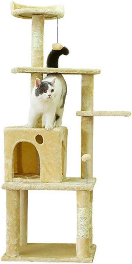 LXHONG-Árbol de gato La Subida Plataforma Multicapa Madera Maciza ...