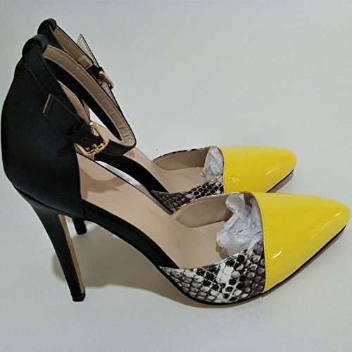 Toe VIVIOO Pumps Three Pointed 45 Buckle Size Pumps Sweet Stiletto cm Multi Fashion 11 Belt 8 Sandals Color Prom 5 34 Pu with pfqrpaZ