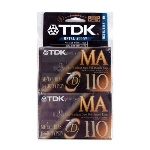 TDK MA-110 Metal Alloy/Bias Type IV Cassette Tapes 2-Pack by TDK by TDK
