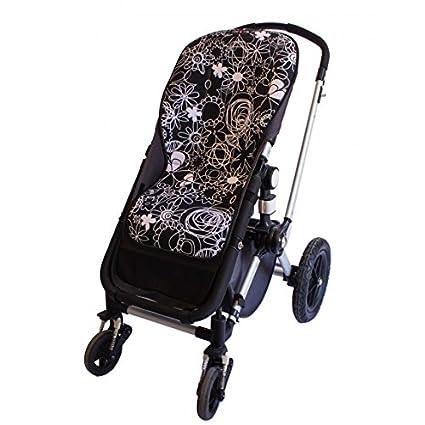 Tris&Ton colchoneta silla de paseo ligera maxi para carrito cochecito bebe transpirable de microfibra + protección