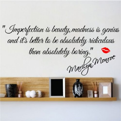 marilyn monroe quote decals