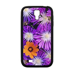 Glam Purple flowers personalized creative clear protective cell phone case for Samsung Galaxy S4