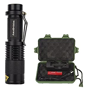 Ultra Bright LED Flashlight 1000 Lumens Rechargeable Tactical Flashlights with 5 Modes, Adjustable Handheld High Lumens Flashlight Torch Water Resistant for Emergency Camping Hiking