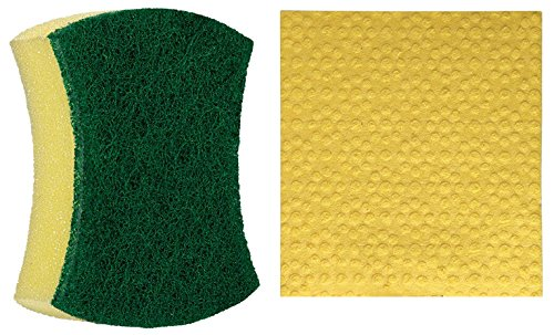 Scotch-Brite Scrub Sponge Large (Pack of 2) and Sponge Wipe Large (Pack of 3)
