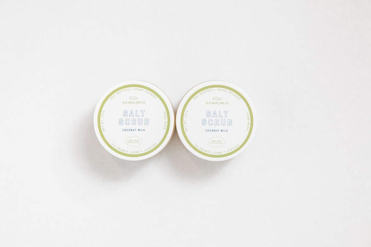TWO Coconut Milk Salt Scrub    handmade salt scrub/dead sea salt/sweet almond oil/exfoliating / moisturizing/Charleston / coconut