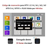 16-Digit Renew Code for IPTV5 Plus/HTV 1 2 3 4 5 / A1 / A2 / IPTV 5 6 / IPTVKINGS / IPTV6 Brazil TV Box Subscription for 400 Days
