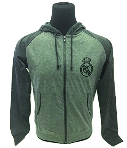 Real Madrid Spring Light Zip up Hoodie, For Adults and Kids (Lightweight Zip-up Hoodie) (Youth X-Large (13-15 years))