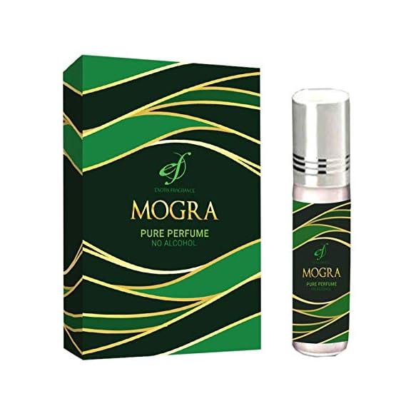 Exotix Fragrance Attar Mogra Long Lasting Attar for Men and Women Imported Edition Rollon Perfume 6ml