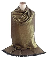 MissShorthair Metallic Soft Pashmina Shawl Wrap Scarf in Solid Colors
