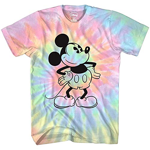 Mickey Mouse Attitude Tie Dye Classic Vintage Disneyland World Mens Adult Graphic Tee T-Shirt Apparel (Blue Tie Dye, XX-Large)