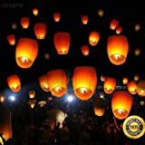 COLIBROX--New 50 White Paper Chinese Lanterns Sky Fire Fly Candle Lamp Wish Party Wedding New 50 White Paper Chinese Lanterns Sky Fire Fly Candle Lamp Wish Party Wedding