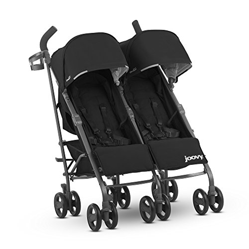 Door Side Caboose - JOOVY Twin Groove Ultralight Umbrella Stroller, Black