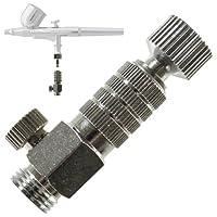 Acoplador y tapón de desconexión rápida de liberación rápida del aerógrafo de la marca de aerógrafo con aerógrafo Válvula de control de ajuste del flujo de aire 1/8 pulg. BSP Conexiones macho y hembra
