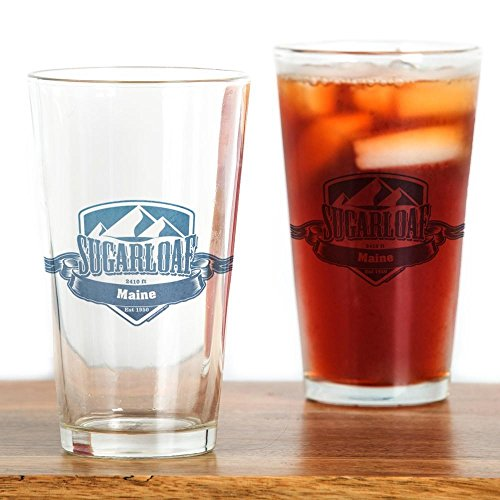 CafePress Sugarloaf Maine Ski Resort 1 Pint Glass, 16 oz. Drinking ()