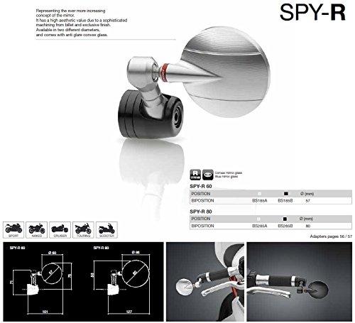 Rizoma Mirror Spy R 60 Art BS185B BLACK (Spy Bar)