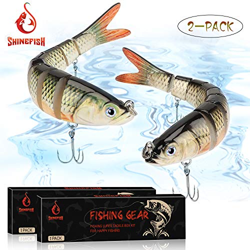 SHINEFISH Fishing Lures Multi Jointed Swim baits Slow Sinking bass