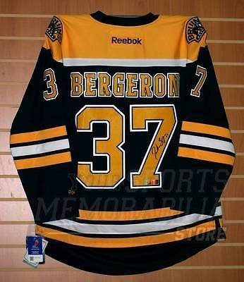 266582a4a7a Patrice Bergeron Boston Bruins Signed Autographed Reebok Premier Home Jersey