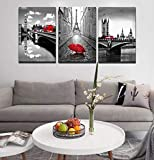 Paris Eiffel Tower Canvas Art Wall Decor - Gray and