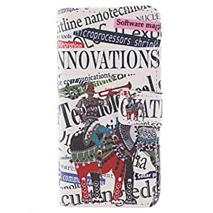 SHOUJIKE The Elephant and the Design of English Letters PU Full Body Case with Stand with Card Slot for iPhone 6 Plus