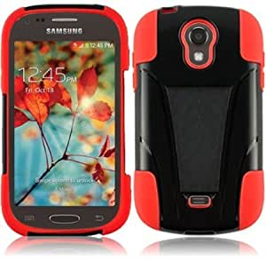 Cerhinu For Samsung Galaxy Light T399 Cover Case + LCD Screen (T-Stand Hybrid Black / Red)