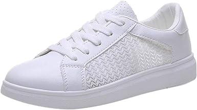 Zapatos Mujer Blancos Zapatillas de Deporte Deportivas ...