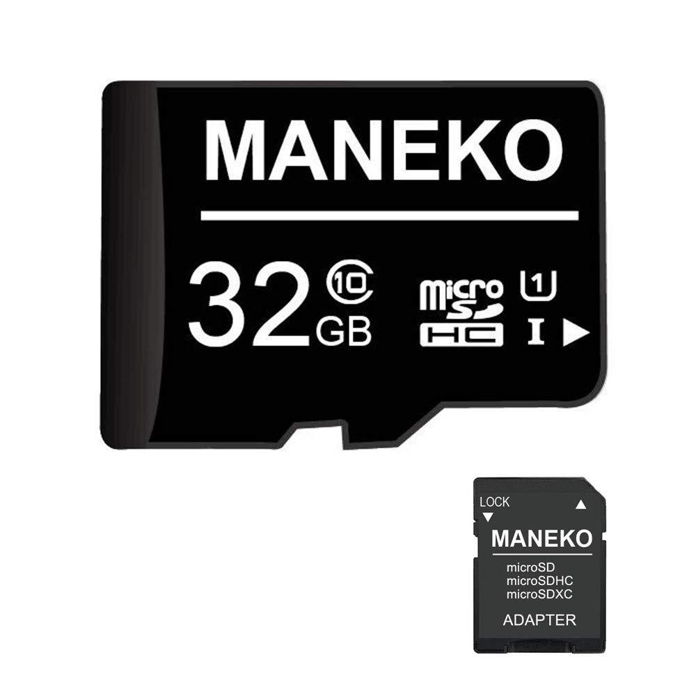 Tarjeta SD, 32 GB, tarjeta de memoria micro SDHC (tarjeta TF) + adaptador SD, Clase 10, U1,