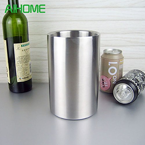 | Ice Buckets & Tongs | Good Quality Stainless Steel Ice Bucket Wine Cooler Whisky Wort Chiller With Hot Barware Champagne Buckets | by NAHASU - Wholesale Champagne Buckets