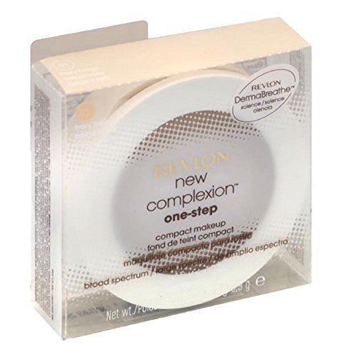Revlon New Complexion One-Step Compact Makeup SPF 15, Ivory Beige [001] 0.35 oz (Pack of 2) (Foundation Makeup One Step)