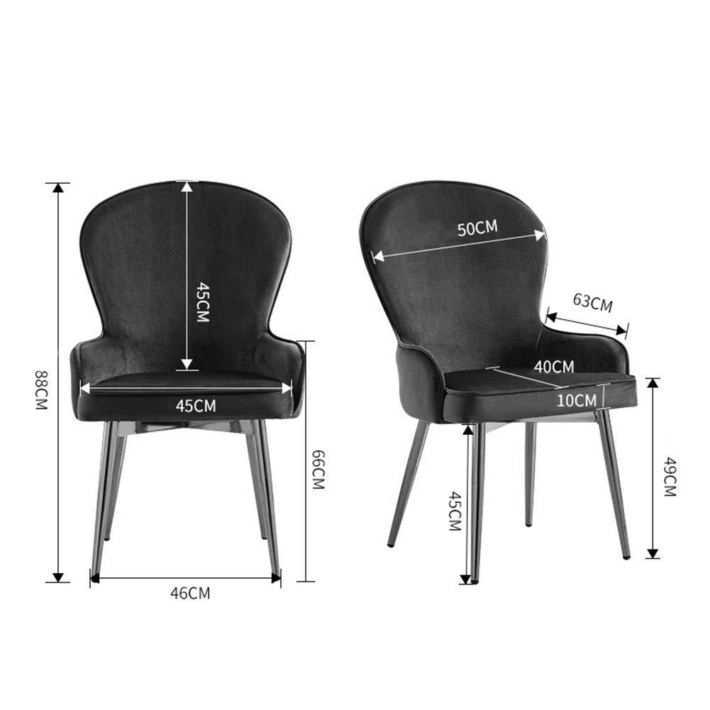 Amazon.com: Sillas de comedor silla de café, respaldo para ...