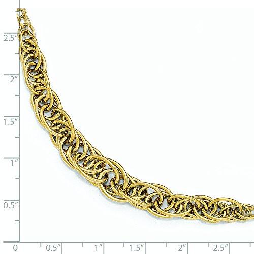 "Bracelet fantaisie lien poli 14 carats - 8 ""- JewelryWeb"