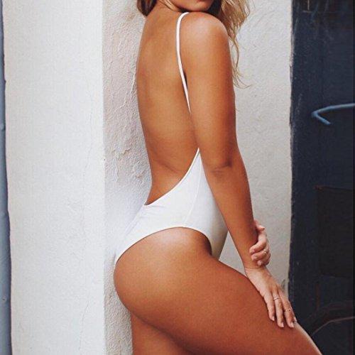 Coordinati Sexy nbsp;Bikini Donna Costumi Bianco Bikini Un Jumpsuit Donna Zipper Sysnant Swimsuit Costumi da Bagno Costume Monokini Pezzo Backless Costumi da bagno ATwaBZqT