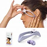 defeatherer Facial Hair Threading Epilator, Women Portable Facial Hair Remover Defeatherer Tool - Quickly Easily Remove Hairs on Upper Lip, Eyebrow, Chin, Cheeks and Sideburns (594043mm,as shown)