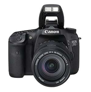 """Canon EOS 7D - Cámara réflex digital de 18 MP (pantalla 3"""", estabilizador), color negro - kit con objetivo EF-S 18-135mm IS (importado)"""
