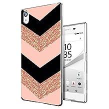 002294 - Chevron Sparkle Zig Zag Girly cool Design Sony Xperia Z5 Premium 5.5'' Fashion Trend CASE Gel Rubber Silicone All Edges Protection Case Cover
