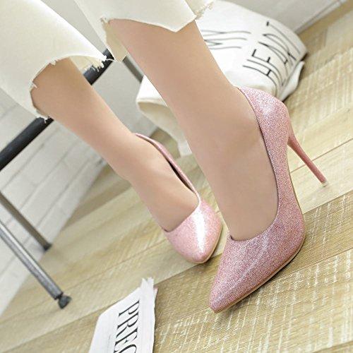 MissSaSa Damen elegant Stilletto geschlossen Pointed Toe Pumps Pink