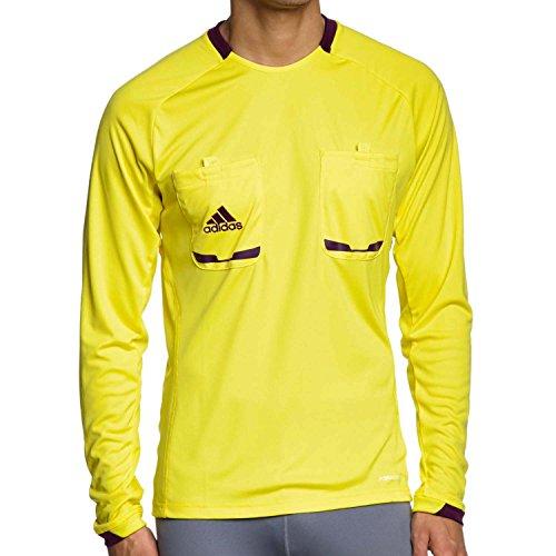 ADIDAS Referee 12 Jersey Long Sleeve lemon peel/purple beauty, Gre Adidas:XL