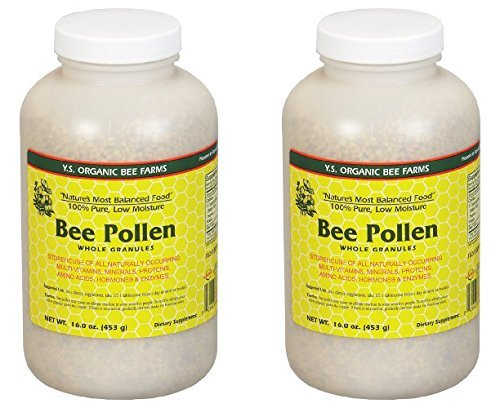 Bee Pollen - Low Moisture Whole Granulars YS Eco Bee Farms 16 oz Granular (2 Pack) (Pollen Granules Bee)