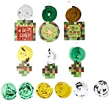 Amscan Hanging Hip TNT Pixel Minecraft Swirl Decorations for Kiddie Parties, Multicolored, One Size
