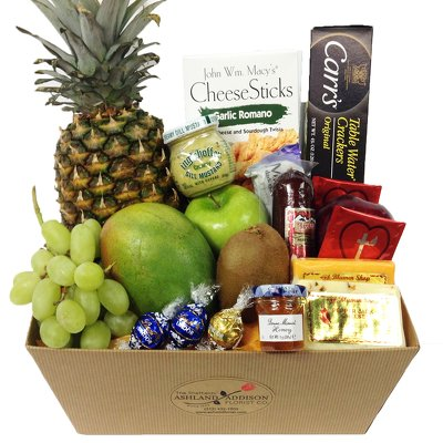 Fruit & Gourmet Basket by Ashland Addison - Fresh Flowers Hand Delivered - Chicago Area by Ashland Addison Florist